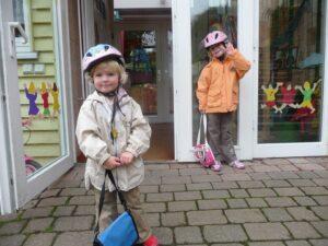 子供と自転車に乗る