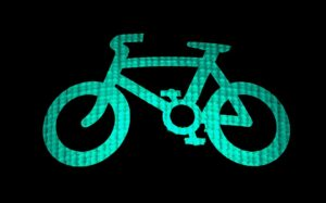 自転車のネオン