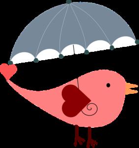傘をさす鳥